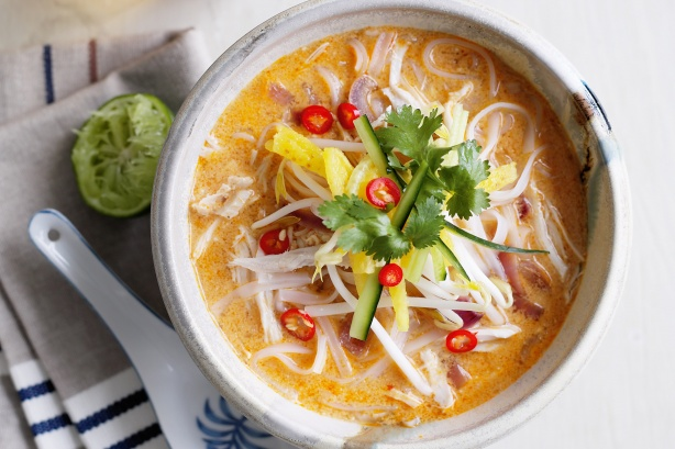 Spicy Laksa Noodle Soup