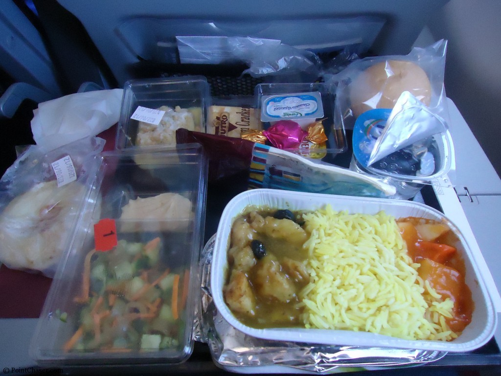 Qatar Airways Meals Onboard